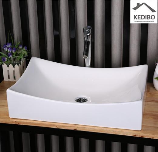 660x395 Square Bathroom Ceramic Wash Basin  7097B