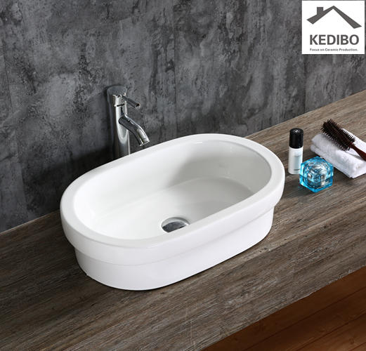 560x370 Oval Wash Basin Without Overflow 7100C