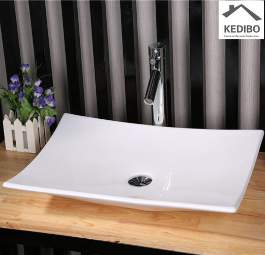 600x400 CSA Approved Super Slim Ceramic Wash Dish Basin Sink 7265