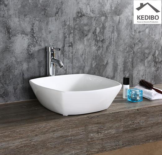 420*420  Square Bowl Ceramic Counter Top Basin Sink 7280