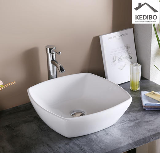 420*420  Square Bowl Ceramic Counter Top Basin Sink 7280