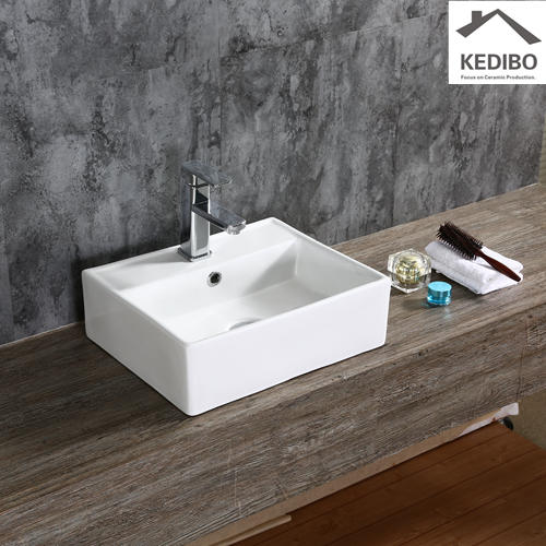 465x465 Popular Square Bathroom Ceramic Wash Basin 7094