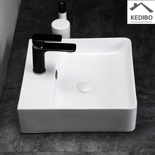500x420 Bathroom Super Slim Square Ceramic Basin Sink 7602