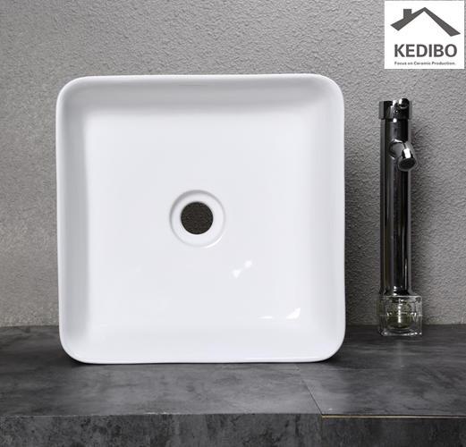 380x380 Special Square Bathroom Slim Washbasin Sink 0051
