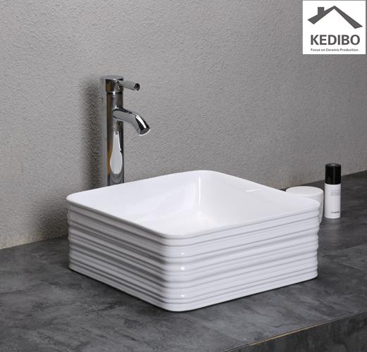 KEDIBO custom wide bathroom sink for shopping mall-2
