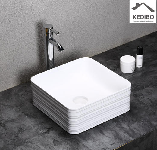 380x380 Special Square Bathroom Slim Washbasin Sink 0051