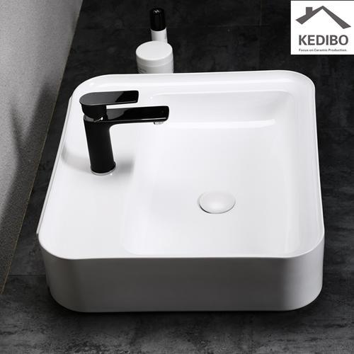 525x425 New Design Rectangle Bathroom Washbasin Sink 0056