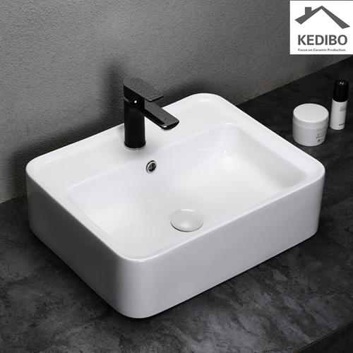 500x425 New Design Square Bathroom Washbasin 0056A