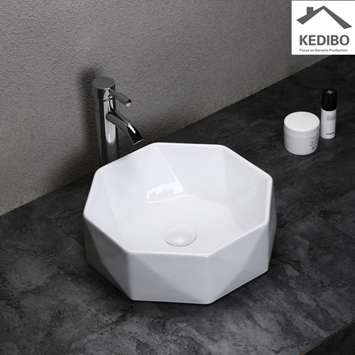 400x400 NEW DESIGN Diamond Incision Wash Basin Sink 0057