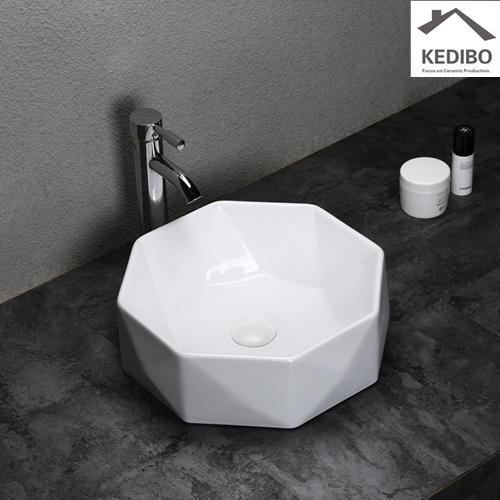400x400 NEW DESIGN Diamond Incision Wash Basin Sink 0057