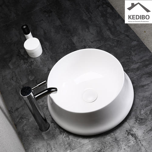 400x400 NEW DESIGN Round Slim Special Bathroom Washbasin 0059