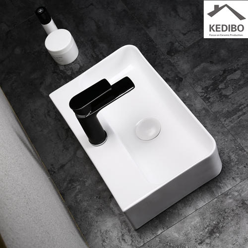 450X270 NEW PRODUCTS Small Size Rilmless Ceramic Basin Sink 0072B