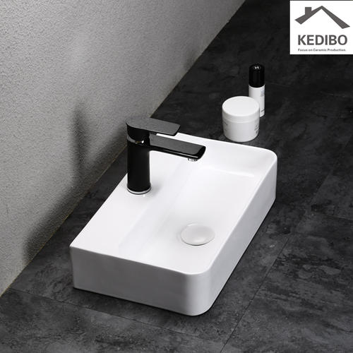 450X270 NEW PRODUCTS Small Size Rilmless Ceramic Basin Sink 0072B