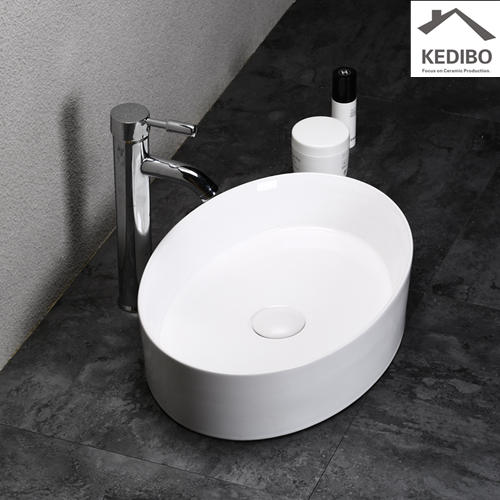 470x330 NEW PRODUCTS Oval Slim Bathroom Wash Basin Sink 7016A