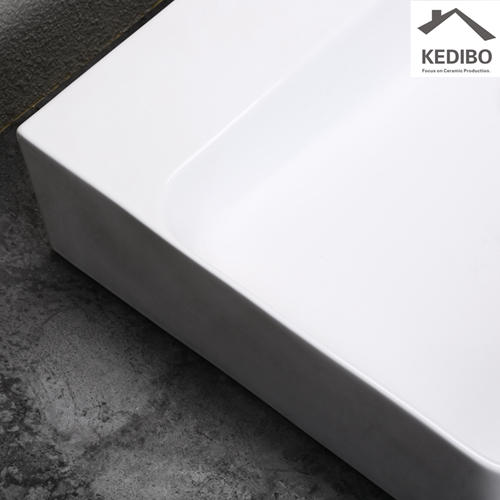 600x420 NEW PRODUCTS Big Size Square Slim Ceramic Basin Sink 7601