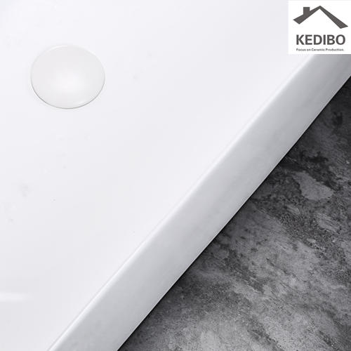 600x420 NEW PRODUCTS Big Size Square Slim Ceramic Basin Sink 7601