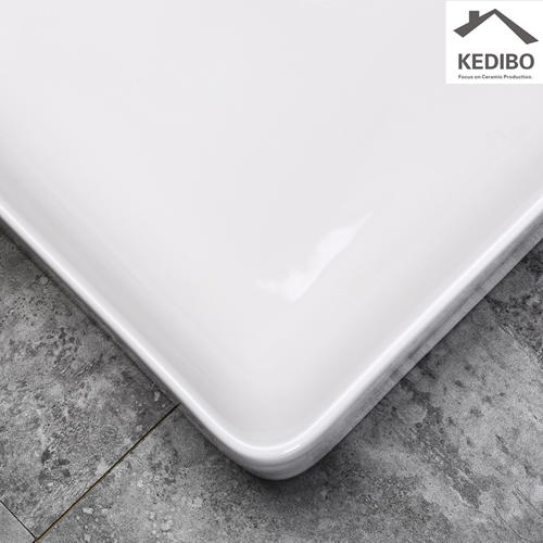 500x420 NEW PRODUCTS Slim Square Washbasin with Square Overflow 7602