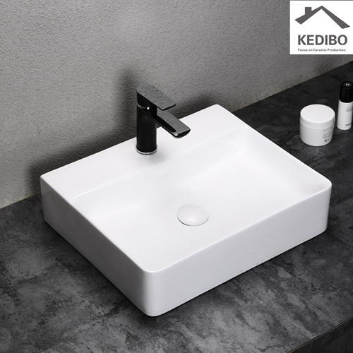 455x355 Slim Square Ceramic Washbaisn Sink Without Overflow 7603