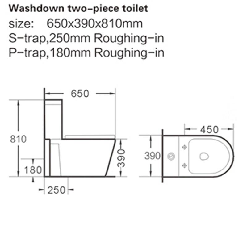 KEDIBO modern design 1 piece toilet factory price for public washroom-2