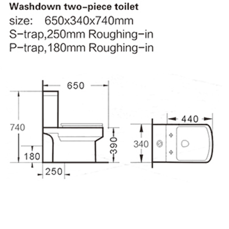 fashionable 1 piece toilet square producer for shopping mall-2