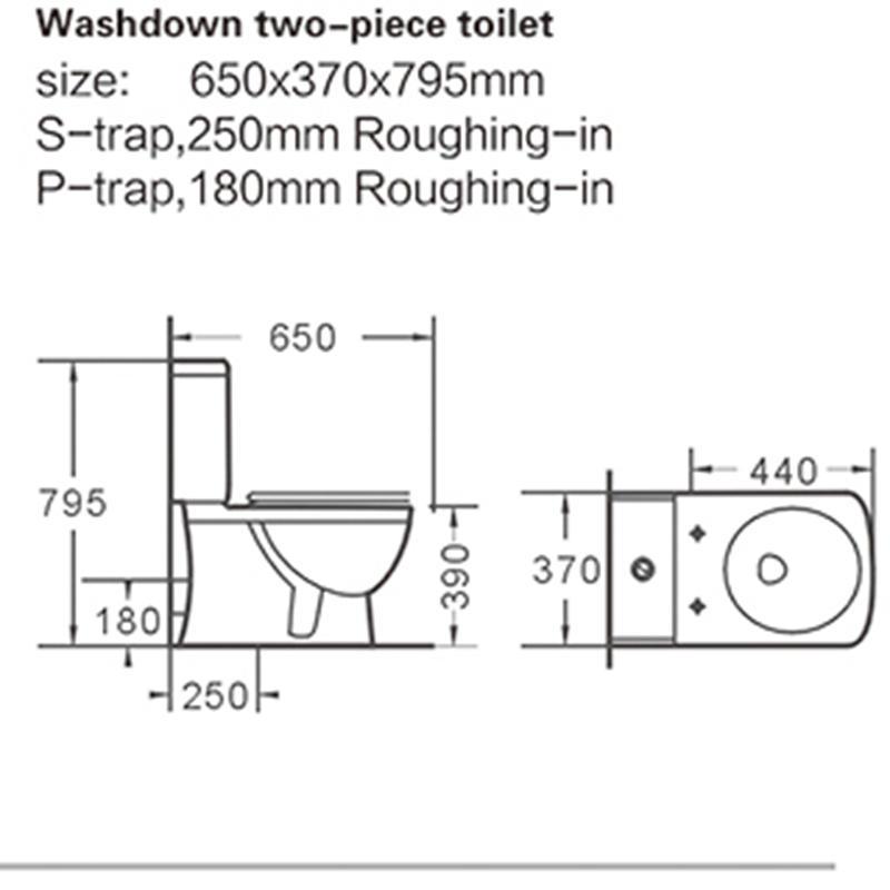 Washdown Two-piece Porcelain Water Closet 040