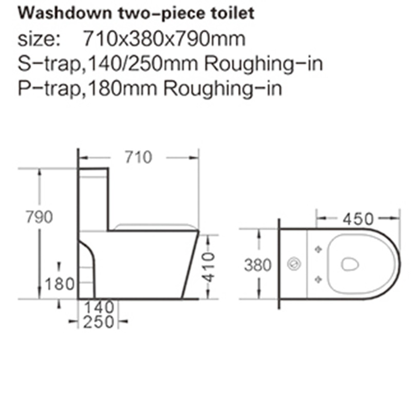 high-quality two piece toilet commode save in big discount for school-2