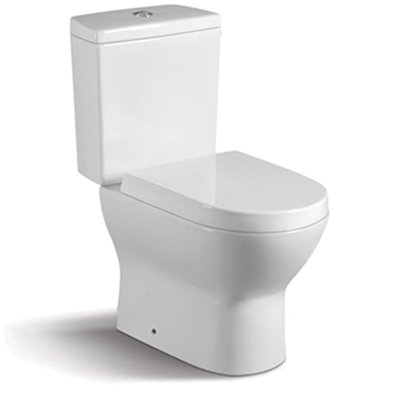 China Round S-trap:250mm Washdown Two-piece Toilet 080A