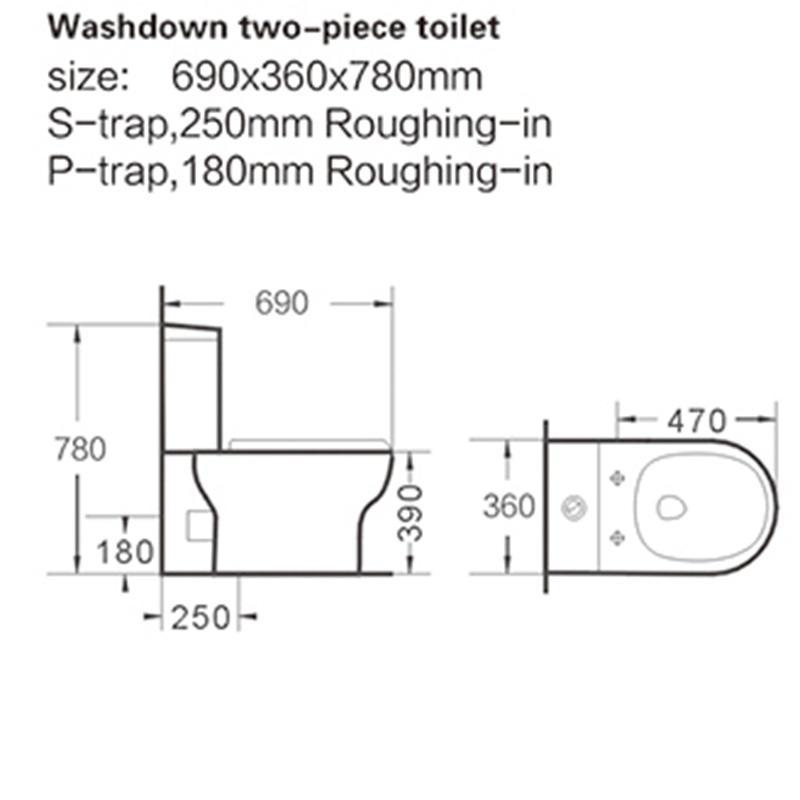 two-piece toilet wash down washdown KEDIBO Brand company