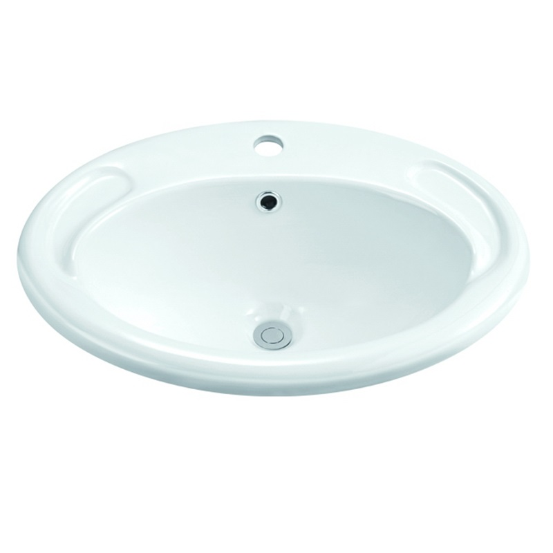 470x415/570x430 Above Counter Top Oval Ceramic Basin 1-1801-1