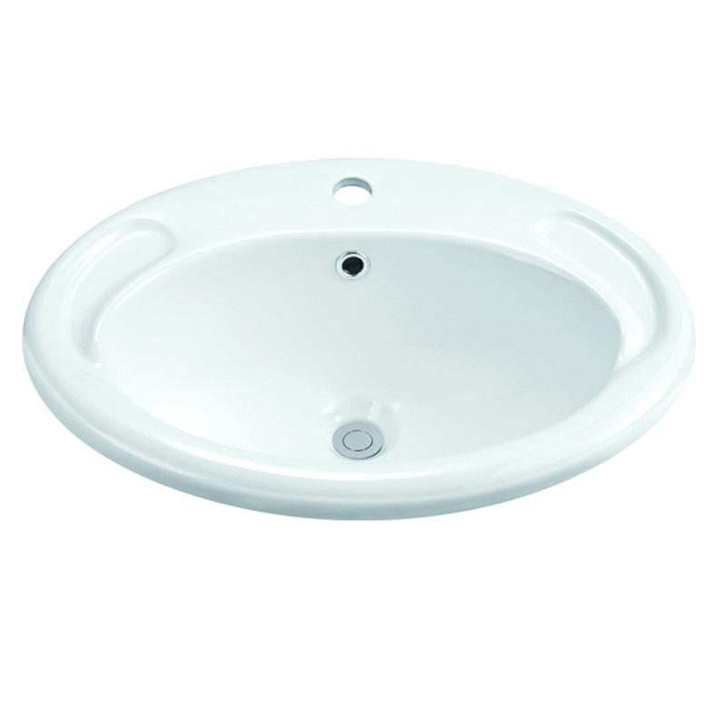 470x415/570x430 Above Counter Top Oval Ceramic Basin 1-1801