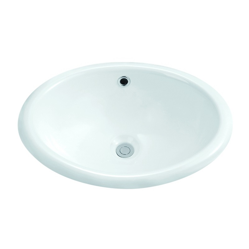 485x395/550x430 Oval Semi Recessed Counter Top Basin Sink 1-1901-1