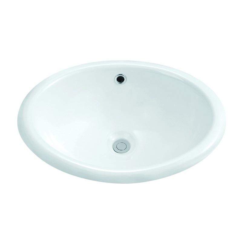 485x395/550x430 Oval Semi Recessed Counter Top Basin Sink 1-1901