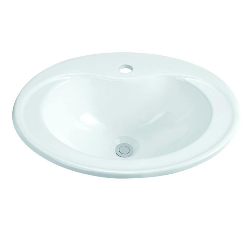 560x460 Bathroom Ceramic Semi Recessed Basin Sink 1-2203
