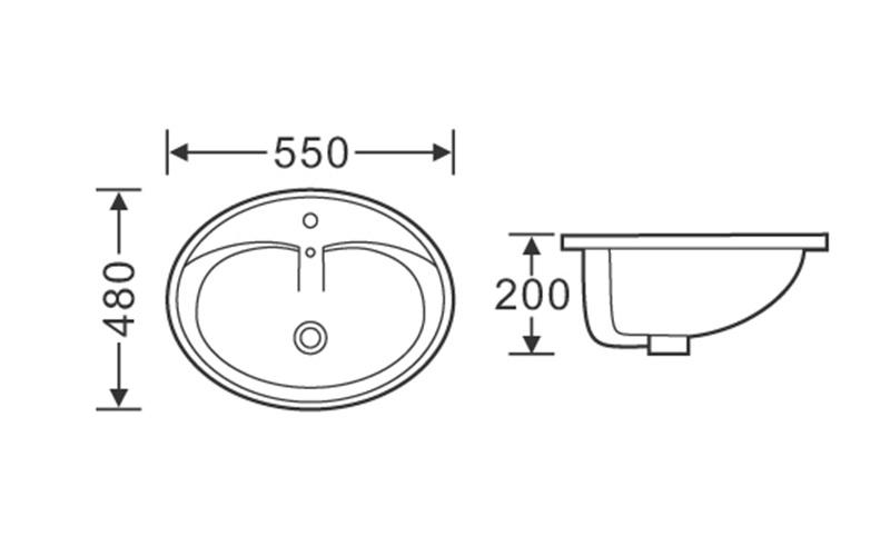 KEDIBO pratical oval undermount bathroom sink dropshipping for mobile toilet-2
