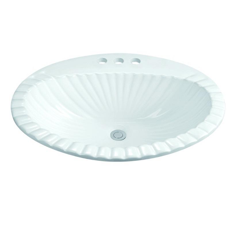 580x460 Three Tap Holes Bathroom Classical Washing Bowl 1-2302