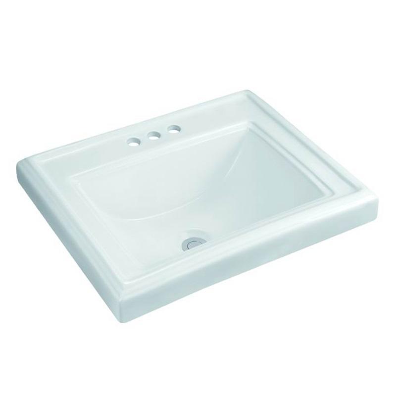 580x470 Rectangle Bathroom Three Tap Holes Ceramic Basin Sink 3-2301