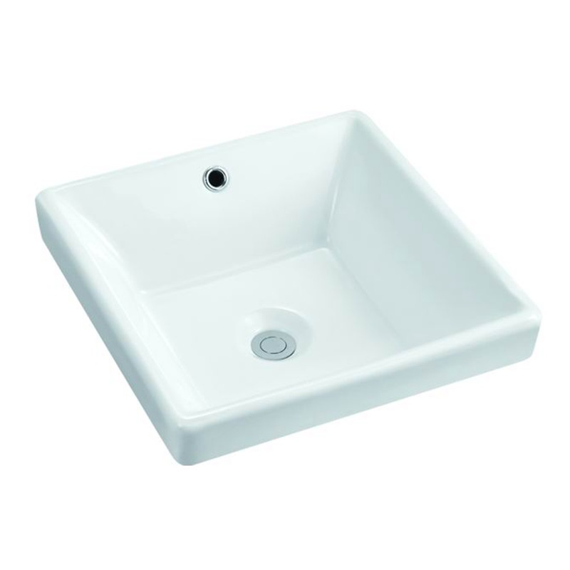 385x385 Square Bathroom Ceramic Above Counter Top Basin Sink 104-1