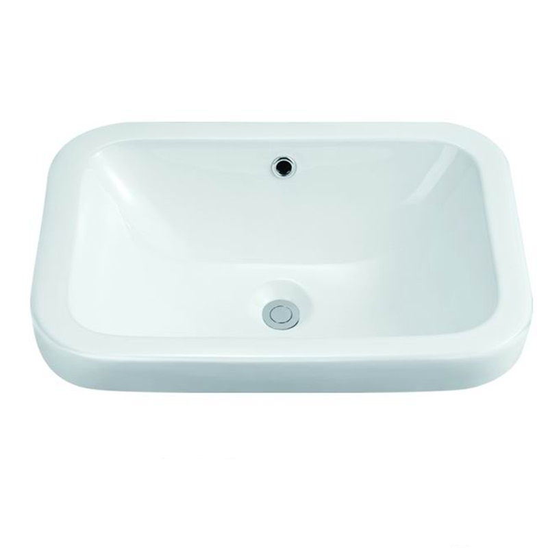 570X415 Rectangle Bathroom Above Counter Top Basin Sink 106-1