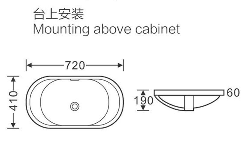 720x410 Bathroom Classical Ceramic Vanity Basin Sink 113
