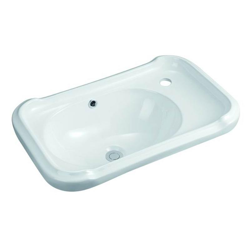 610x390 Rectangle Bathroom Vanity Basin With Corner Tap Hole 119