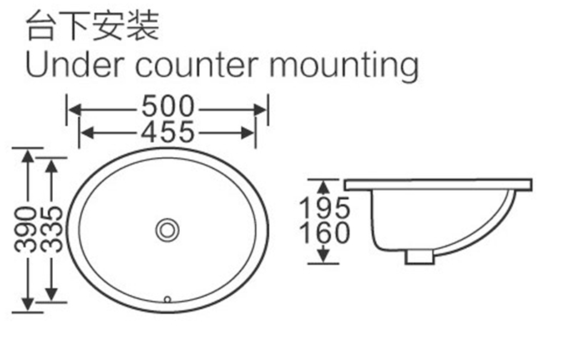 KEDIBO washing oval undermount bathroom sink free quote for hospital-2