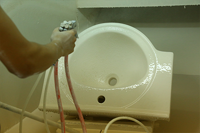 460x375 Washroom Oval Under Mounted Basin Sink 2-1802-17