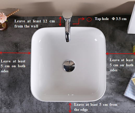 495x400 Oval Bathroom Drop In Ceramic Basin Sink 2-2005-9