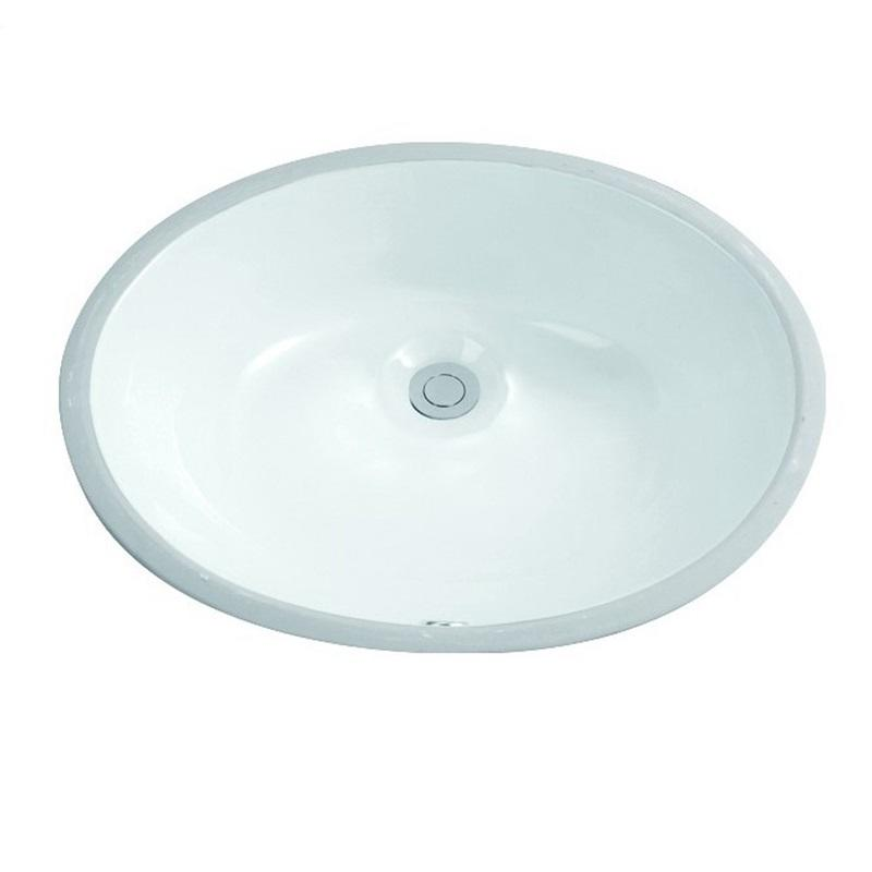 495x400 Oval Bathroom Drop In Ceramic Basin Sink 2-2005