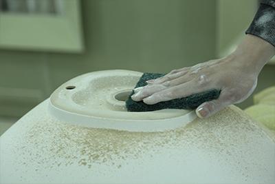 530x370 Bathroom Square High Grade Ceramic Under Mounted Basin 2-2101-19