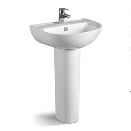545x435 Washroom Ceramic Pedestal Basin Sink 006B
