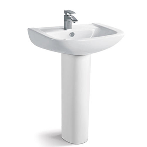 610x475 Rectangle Easy Installation Pedestal Basin Sink 040B