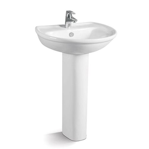 600x485 Round Design Ceramic Pedestal Basin 050B-1