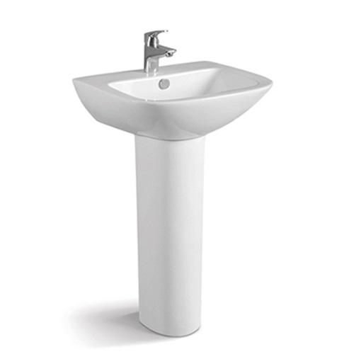 650x510 Rectangle Porcelain Pedestal Basin 067B