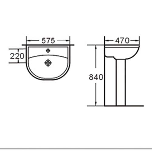 novel pedestal basin bathroomoutdoor bulk production for office building